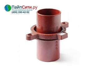 Кронштейн стояка с опорой чугунный канализационный безраструбный Dn 70 PAM-Global® SML